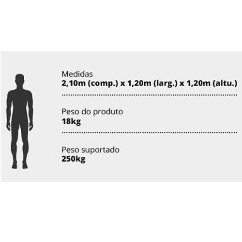 Barraca Tatu Casal Cama Campana Nautika 100% Impermeável