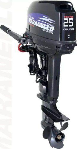 Motor Popa 25 Hp 2 Tempos Twister Partida Manual Maranello