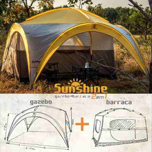 Tenda Gazebo Com Barraca 6 Pessoas 3,20m X 3,20m Sunshine
