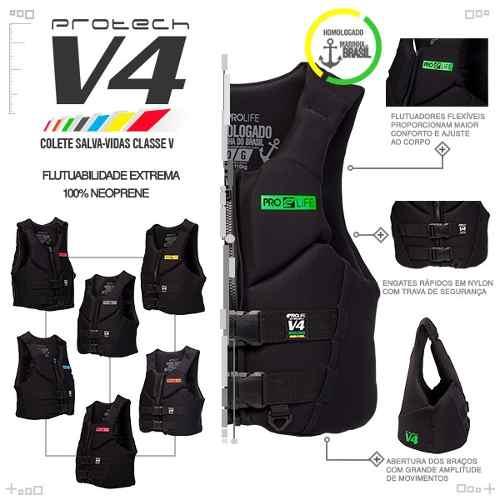 Colete Jet Ski Neoprene Homologado New Protech V3 Prolife