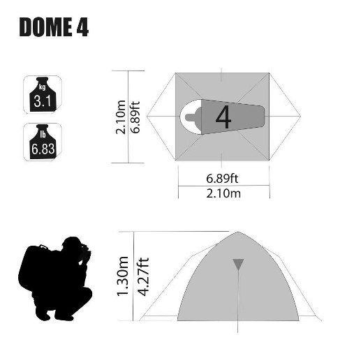 Barraca Dome Nautika 4 Pessoas Impermeável Original