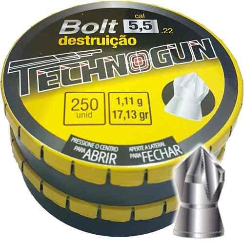 Chumbinho 5.5 Espigarda De Pressão Bolt Destruição 750 Unds