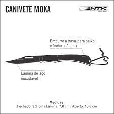 Canivete Faca Facao Cabo De Madeira Moka Lamina Nautika