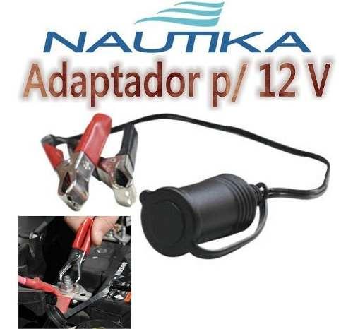 Adaptador 12v Veicular Barco Carro Jacare Bateria Acendedor