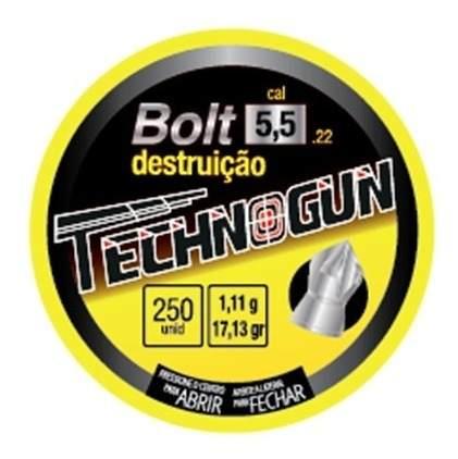 Chumbinho 5.5 Carabina De Pressão Bolt Penetração 1000 Unds