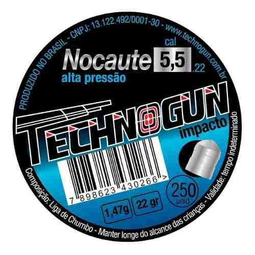 Chumbinho Carabina Pressão Nocaute 5,5 Technogun Alto Impact