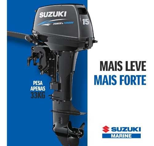 Motor De Popa Suzuki 15 Hp- 2t Frete Gratis Todo Brasil