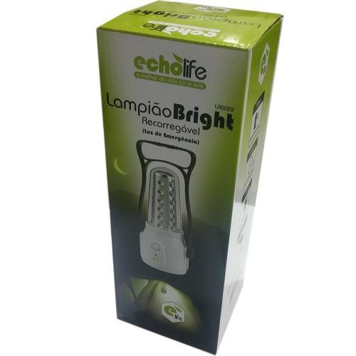 Lampião Led Recarregável Bivolt Recarrega Celular Echolife