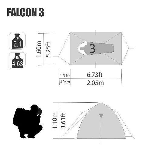 Barraca Nautika Falcon 3 Pessoas