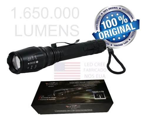 Lanterna Militar Potente Superior A X900 Led T6 Recarregavel