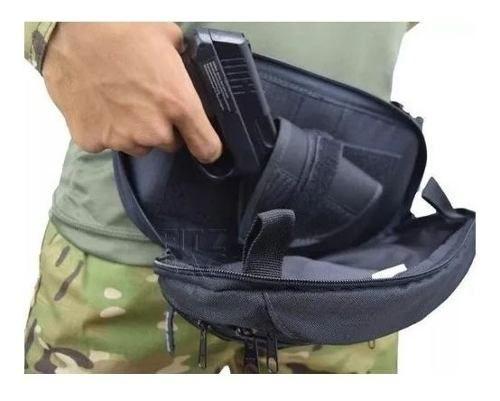 Pochete Tática Coldre Saque Rapido Velado C/ 3 Bolsos Foxboy