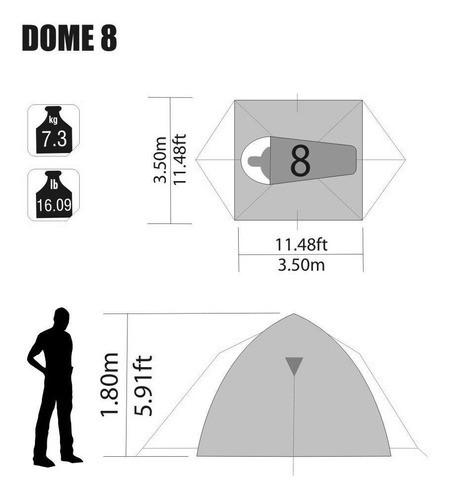 Barraca Iglu Dome 8 Pessoas Gigante 12 Metros Quadrados Top