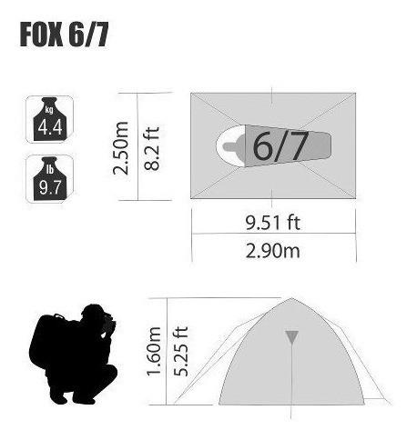 Barraca Para 6 A 7 Pessoas Nautika Fox Com Sobre Teto