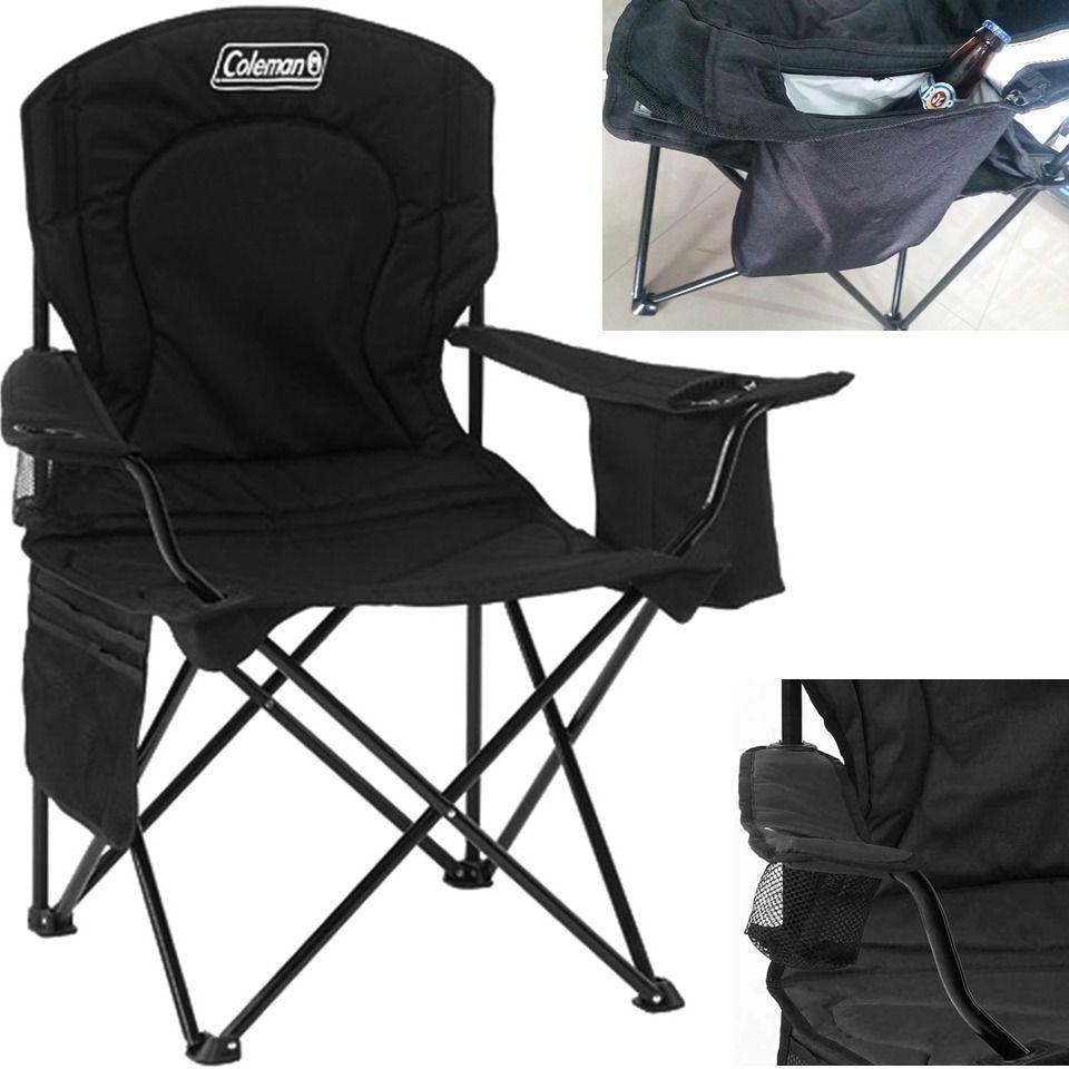 Cadeira Dobrável P/ Pesca Coleman  +  Porta  Copo + Bolsa
