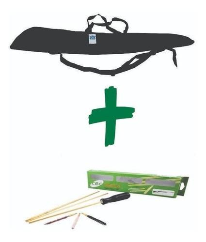 Capa de carabina 1,2 metros mais kit de limpeza 5.5mm