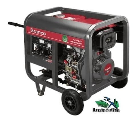 Gerador de energia diesel Branco BD6500-E