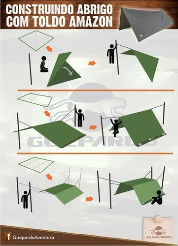 Lona 3m X 2,60m Cobertura Capa Toldo Forro Camp Tenda