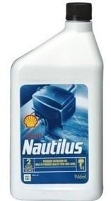 Óleo Shell Nautillus Premium Tc-w3 Para Motores 2t 3 Litros