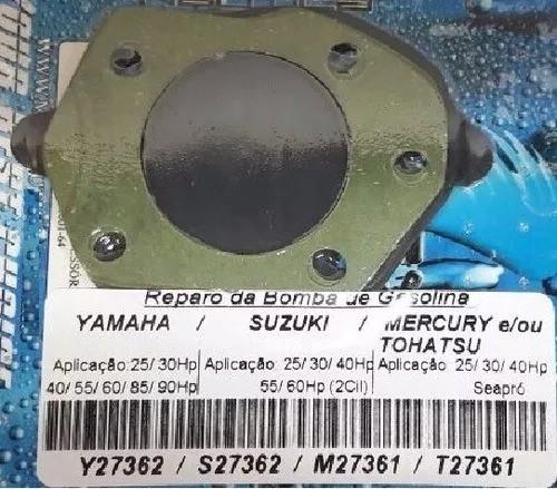 Reparo Bomba De Gasolina Yamaha Suzuki 25 Hp Até 65 Hp