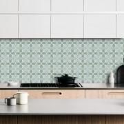 Papel de Parede ADESIVO - azulejo verde