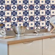 Papel de Parede ADESIVO - azulejos coloridos