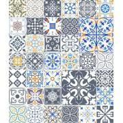 Papel de Parede ADESIVO - azulejos diversos