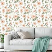 Papel de Parede Adesivo - flores claras