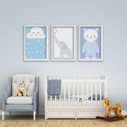Placas decorativas em PVC - Nuvem / Elefante / Urso