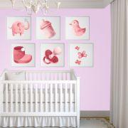 Placas decorativas em PVC - Bebê Menina