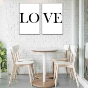 Placas decorativas em PVC - Love