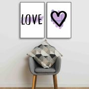 Placas decorativas em PVC - Love