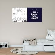 Placas decorativas em PVC - adolescente
