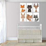 Placas decorativas em PVC - animais