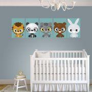 Placas decorativas em PVC - animais filhotes