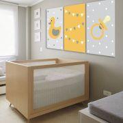 Placas decorativas em PVC - Kit 3 Infantil