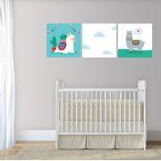 Placas decorativas em PVC - lhama
