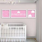 Placas decorativas em PVC - Princesa