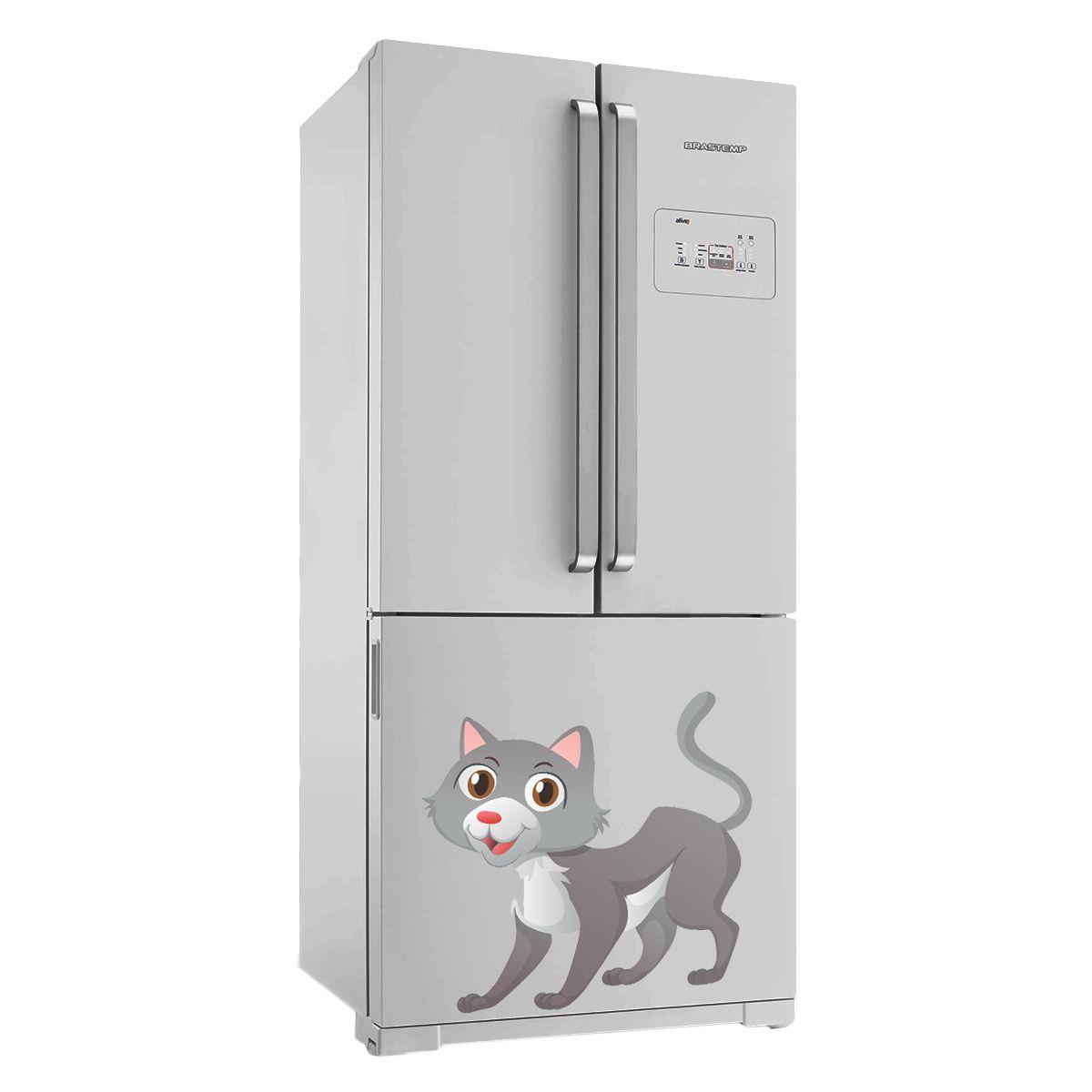 Adesivo de geladeira Gato