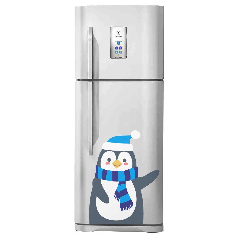 Adesivo de geladeira Pinguim Azul