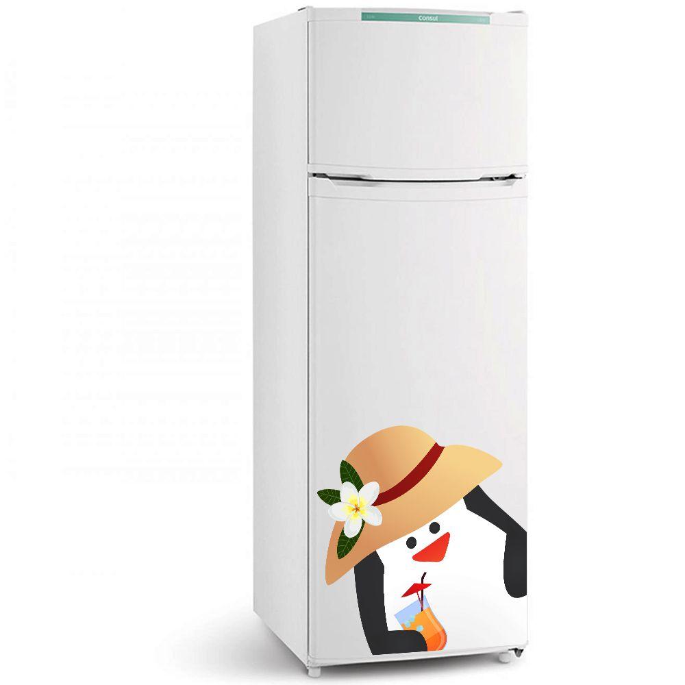 Adesivo de geladeira Pinguim Chapéu