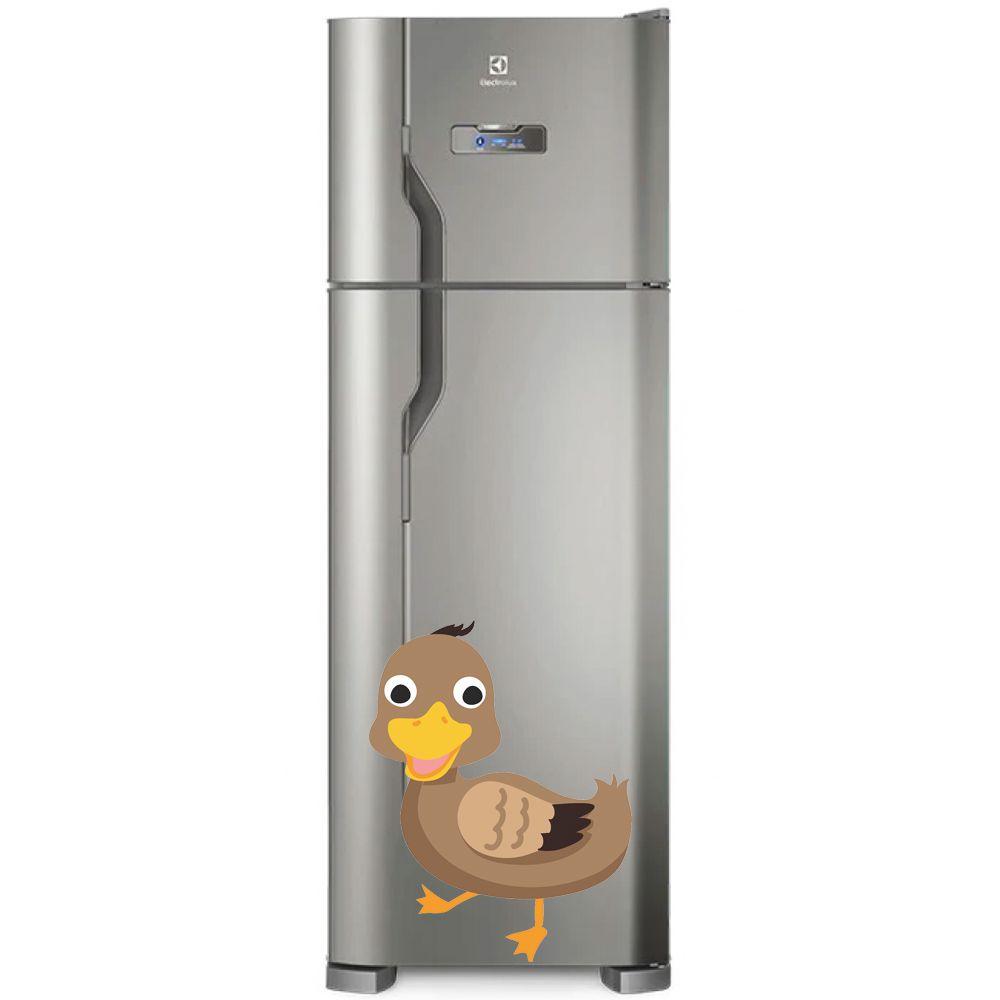 Adesivo de geladeira Pato Marrom