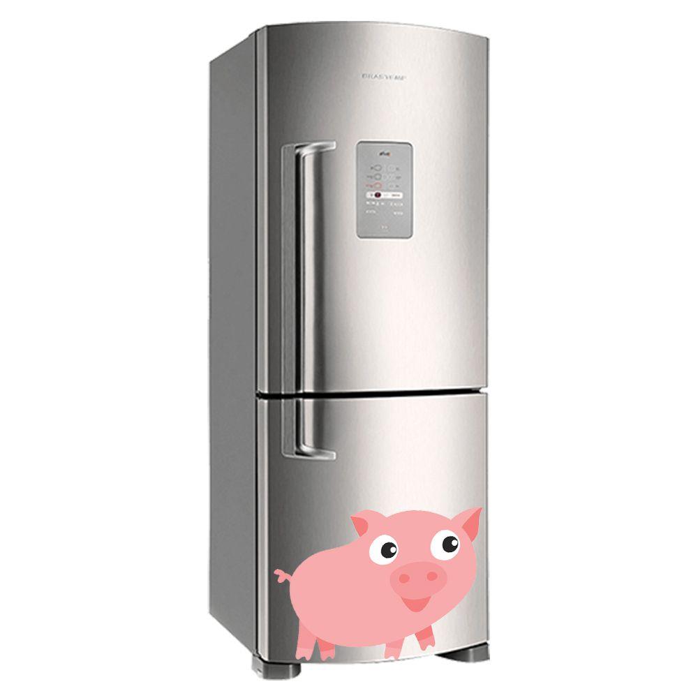 Adesivo de geladeira Porco