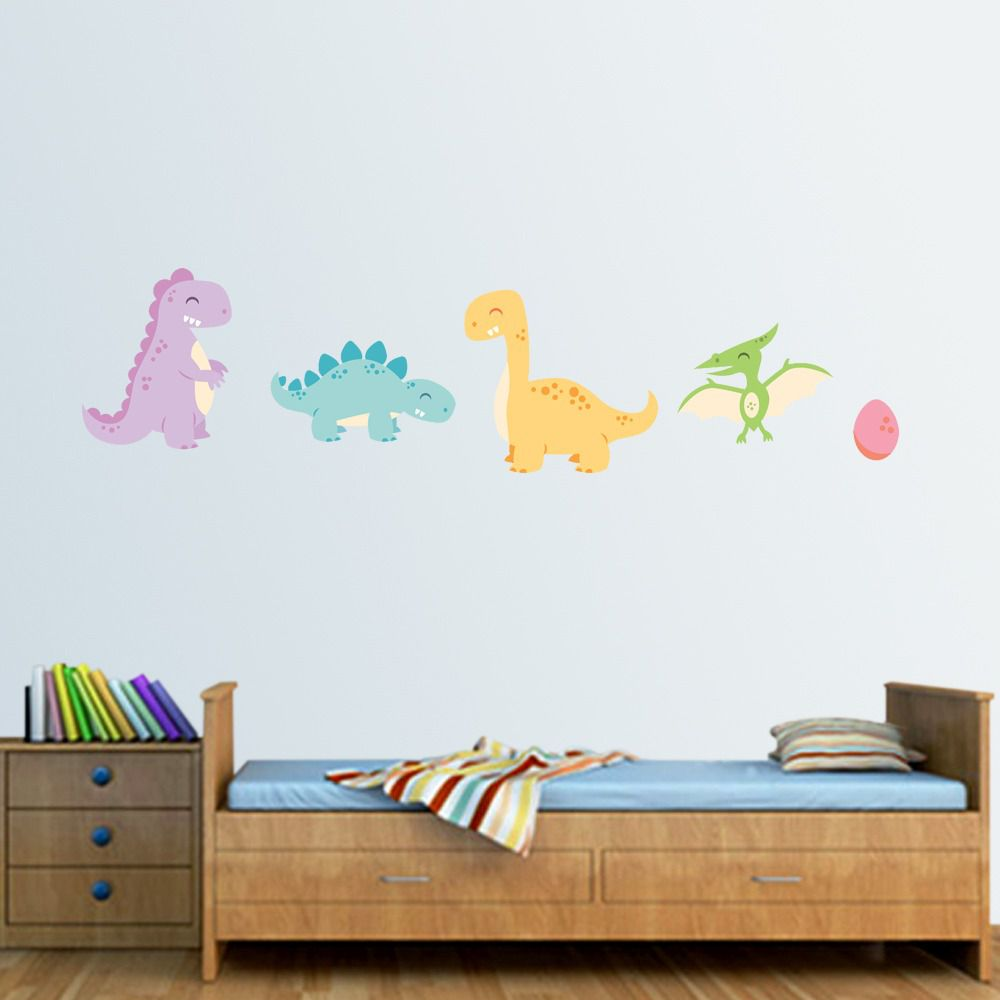 Adesivo dinossauros aquarelados