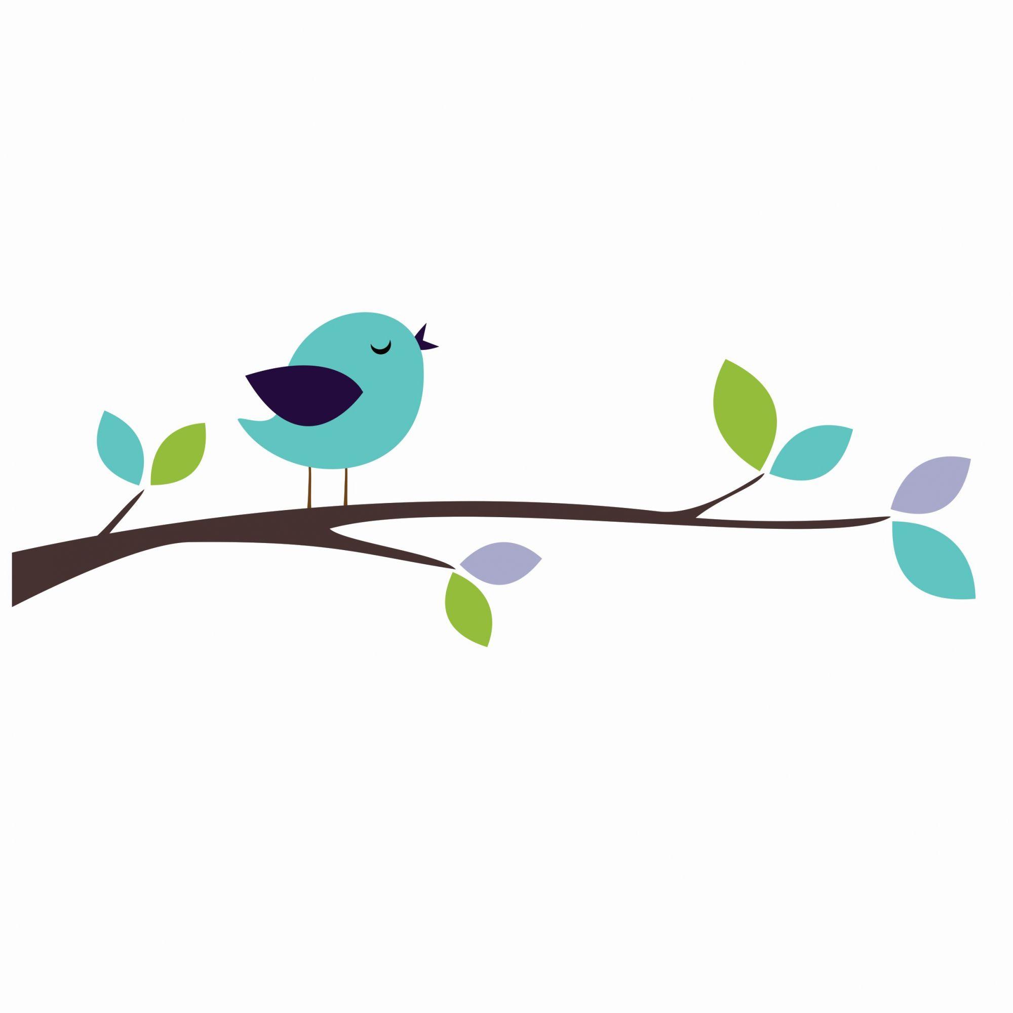 Adesivo pássaro azul