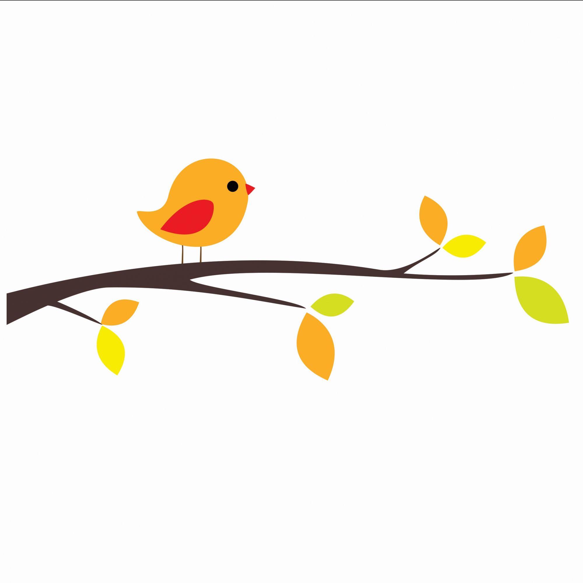 Adesivo pássaro laranja
