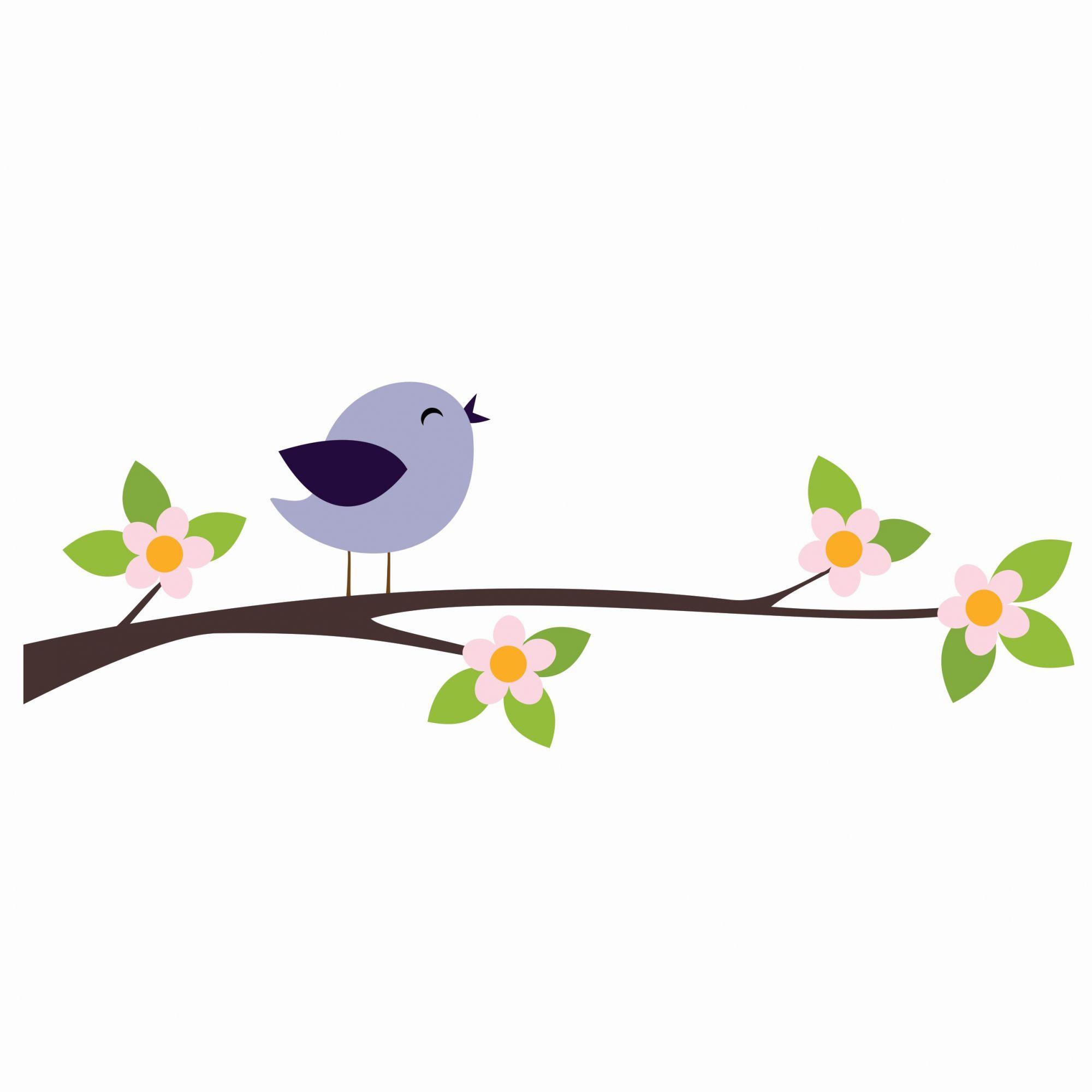 Adesivo pássaro roxo