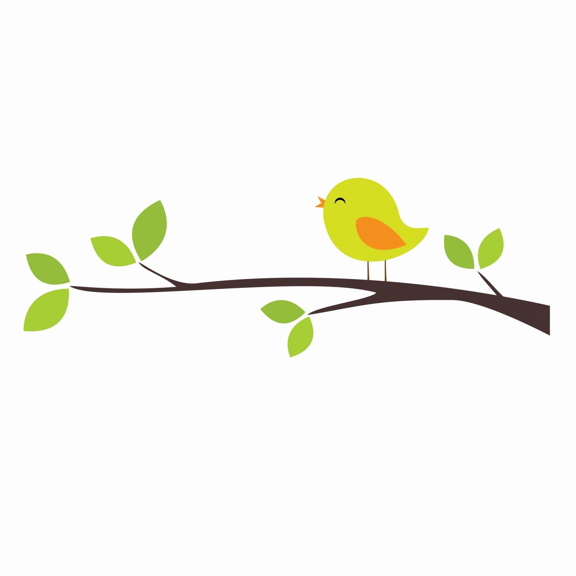 Adesivo pássaro verde