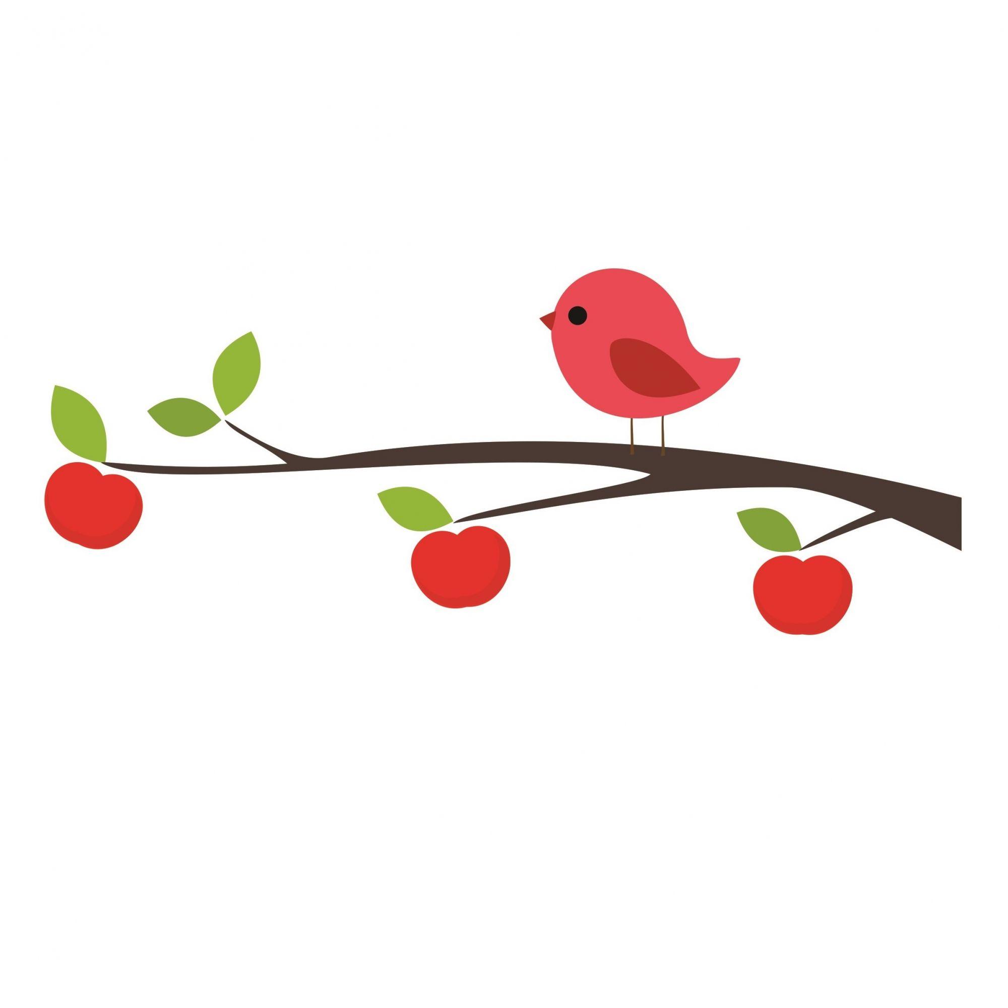 Adesivo pássaro vermelho