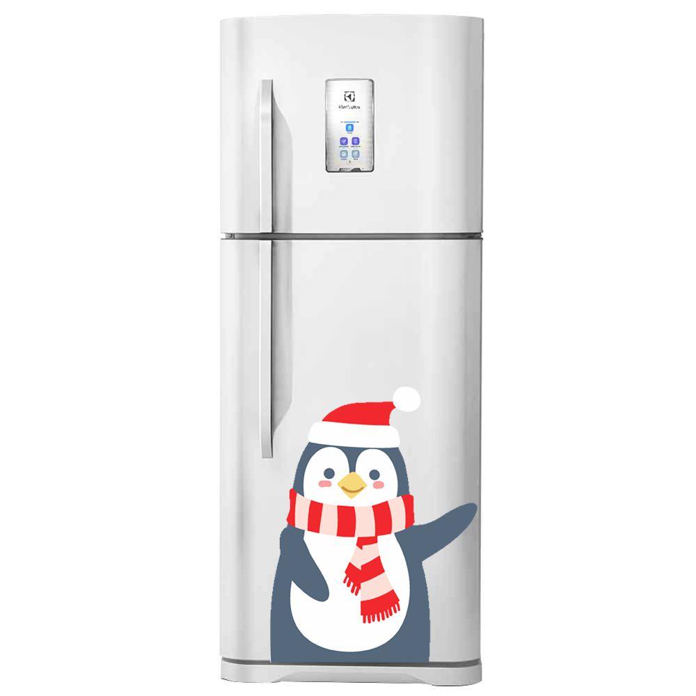 Adesivo de geladeira Pinguim Vermelho