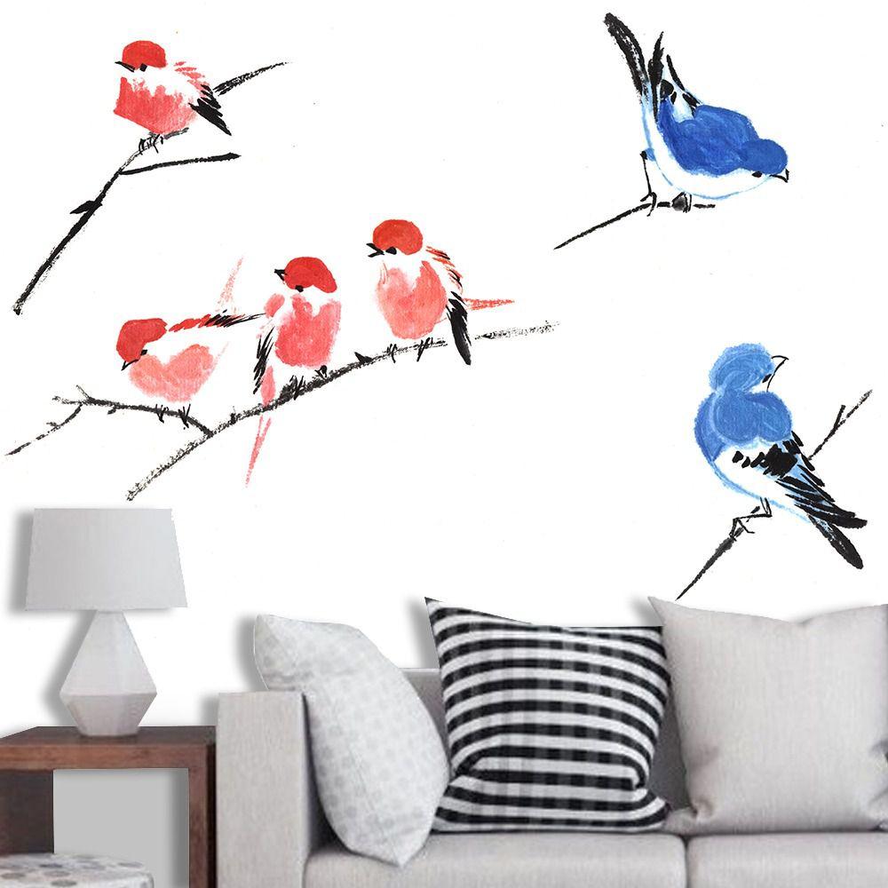 PAINEL FOTOGRÁFICO  - pássaros no galho